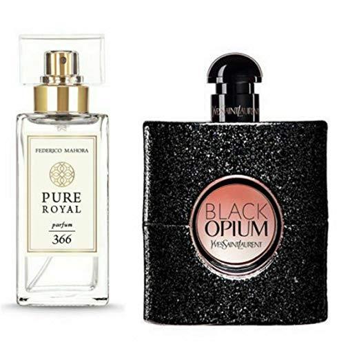 FM 366 Pure Royal Collection Federico Mahora - Perfume para mujer (50 ml), color negro