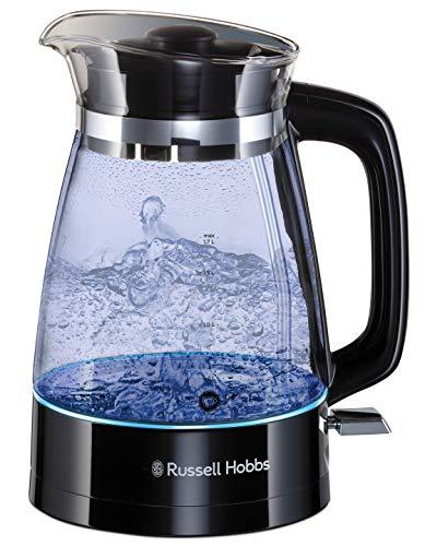 Russell Hobbs Glass Classic - Hervidor de Agua (Electrico, 1.7 l, Acero Inox, 2400 W, Cristal, Negro) - ref. 26080-70