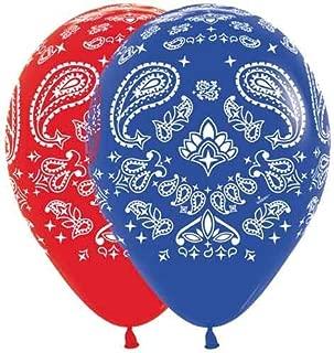 Bandana Western Print Balloons Latex Party Hoedown Decorations