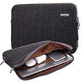 KAYOND Herringbone Woollen Water-Resistant for 17 Inch Laptop Sleeve Case Bag (17 Inches, Black)