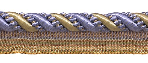 Check Out This DÉCOPRO 27 Yard Roll Large Lavender Blue, Taupe 7/16 inch Imperial II Lip Cord Style...