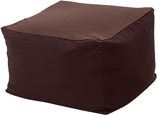 [K sera sera] ビーズクッションカバー ソファーカバー 洗える 替えカバー カバーのみ 65×65×43 布帛 (Brown/ブラウン)