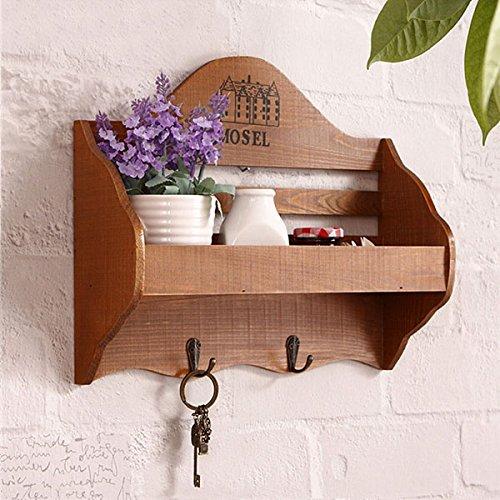 Inovey Antiken Stil Schlüssel Holz Haken Aufhänger Kleinigkeiten Wand Lagerregal Home Decor