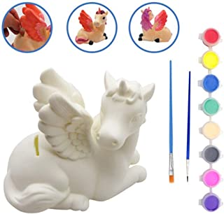 LUCUNSTAR Paint Your Own Unicorn Piggy Bank for Girls Personalized Money Bank for Kids Unicorn Gifts Crafts Set for Girls