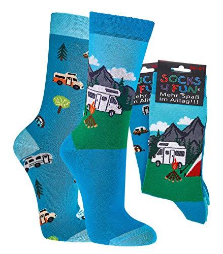 Spaßsocken, Fun socks, witzige Socken, Camping (numeric_36)