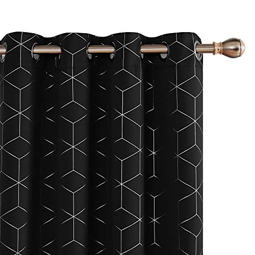 Deconovo Diamond Foil Printed Thermal Insulated Curtains