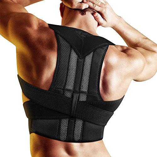 KADDGN Einstellbare Erwachsener Korsett Körperhaltung Korrektor Therapie Schulter Lendenwirbelstütze Lordosenstütze Gurt-Lage-Korrektur für Männer Frauen,XL