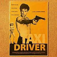 ミニ ポスタータクシードライバー 銃を構えるトラヴィス 黄色