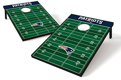 Wild Sports NFL Tailgate Size Cornhole Set, New England Patriots, Two 2' x 3' Boards and 8 Bags