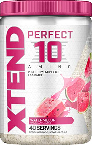 XTEND Perfect 10 Amino EAA Powder Watermelon | 5g Essential Amino Acids + Branched Chain Amino Acids + Electrolytes to Fuel Hydration & Recovery | 40 Servings