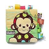 YeahiBaby Puzzle animaux tissu livre bébé jouets tissu début développement livres pour bébés (singe)