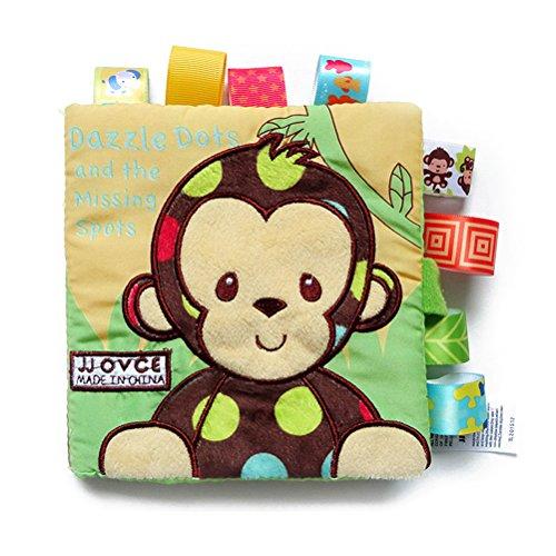 TOYMYTOY Libros de Tela para Bebes Libro Blando TOYMYTOY Juguetes Aprendizaje y Educativo para Bebé (Mono)