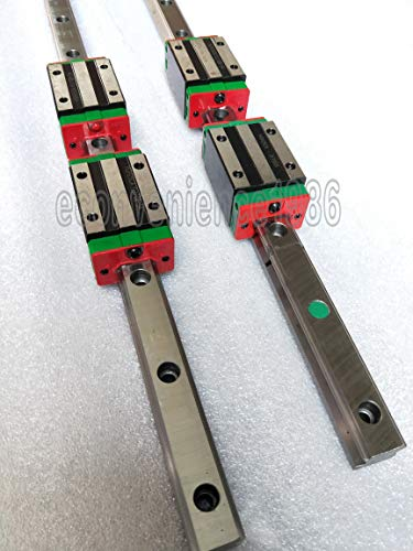 2 Sets HGR25-2800mm Hiwin Linear Rail & 4 pcs HGH25CA Block Bearing