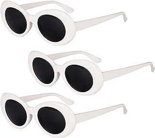 Dolity 3/pack Retro White Clout Goggles Kurt Cobain Glasses Novelty Cocktail Party Sunglasses Unisex