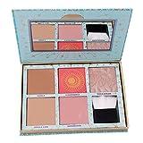 Stayeal Highlighter Palette Kosmetik Palette 5 Farben Rouge Schminkpalette mit Pulver Pinsel