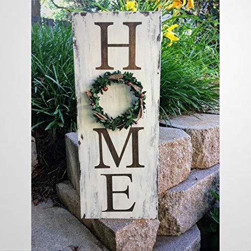 BYRON HOYLE Cartel vertical con corona de madera para decoración de pared, letrero de madera personalizado, placa de madera para Pascua, día del padre, día de la madre, hogar, jardines