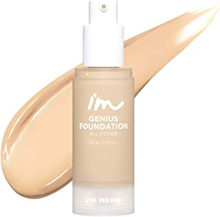 I'M MEME I'M Genius Foundation All Cover | Soft Matte, Long lasting Foundation with buildable coverage | 003 Beige | K-Beauty