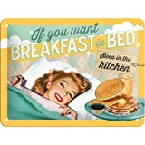 Nostalgic-Art Cartel de Chapa 15x20 -Breakfast in Bed