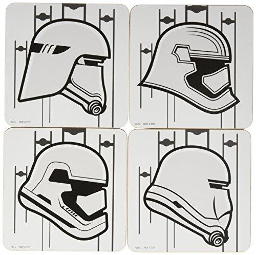 Star Wars: TFA Stormtrooper Lot de 4 Dessous de Verre EE