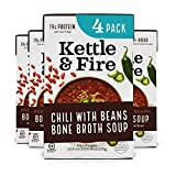 Chili with Beans and Grass Fed Beef and Bone Broth by Kettle and Fire, Pack of 4, Gluten Free...