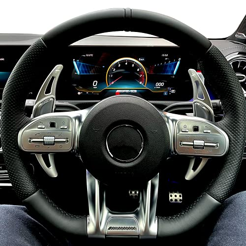 AOWIS Steering Wheel Shift Paddles Accessories for Mercedes Benz AMG GLA45 SL63 A45 C63 E63 S65 CLS6 W176 W213 W222 (Red)