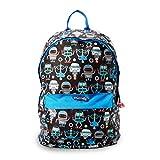 Nuby Trendz Kids Backpack, Robots Mochila Infantil, 40 cm, 10 Liters, Negro (Black, Multicoloured)