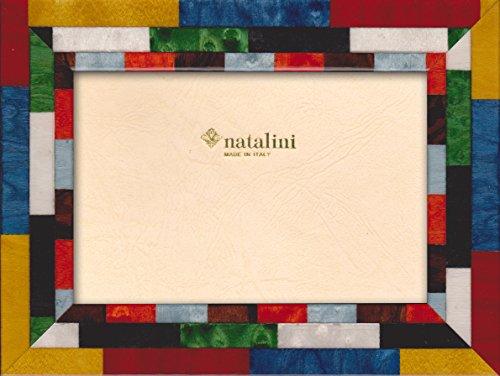 Natalini Mira Rossobg, Cornice per Foto, in Legno/Vetro,, Legno,, 23x18x1,5 cm, multicolore