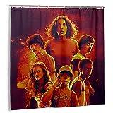 Stranger-Things Eleven Cortina de ducha para baño, exquisita cortina de ducha impermeable de 72 x 183 cm con 12 ganchos de plástico