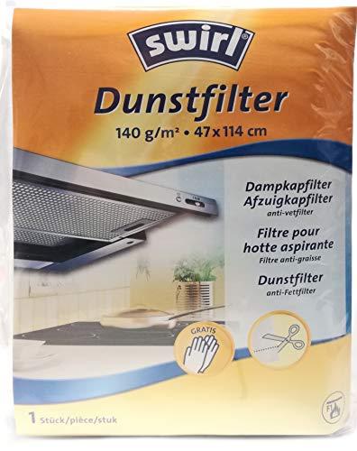 Swirl Dunstfilter 47x114 cm - 140 g/m² für Dunstabzugshaube Anti-Fettfilter von Melitta