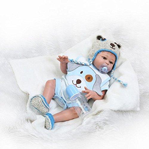 ZIYIUI 20 Zoll 50 cm Reborn Babypuppe Lebensechte Ganzkörper Silikon Vinyl Lebensecht Reborn Baby Junge Neugeborenes Reborn Toddler Junge Mädchen Spielzeug Weihnachts Geschenk