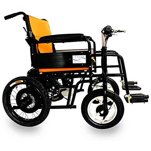 ZHANGYY Leichter elektrischer Rollstuhl Elektrischer, fahrradähnlicher intelligenter Bedienungsgriff, Sicherheitsgurt + Kippschutz, 250 W/2 Motorgriff kann eingestellt Werden