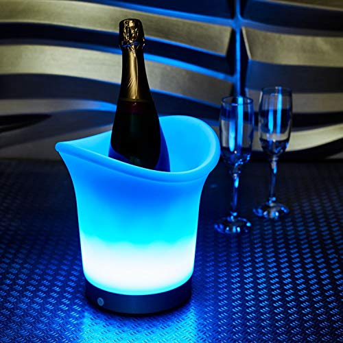 Vinsani LED Colour Changing Ice Bucket - Changes 7 Colours - Battery...