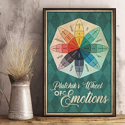 BVT GLOBAL Mental Plutchik's Wheel Max 60% Max 53% OFF OFF Emotions of Post Frame Canvas