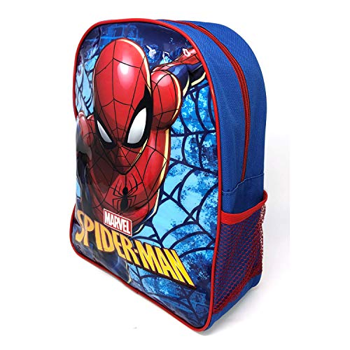 Spider-Man Junior Backpack School Bag w Side Pocket Children's Kid's Character Boys