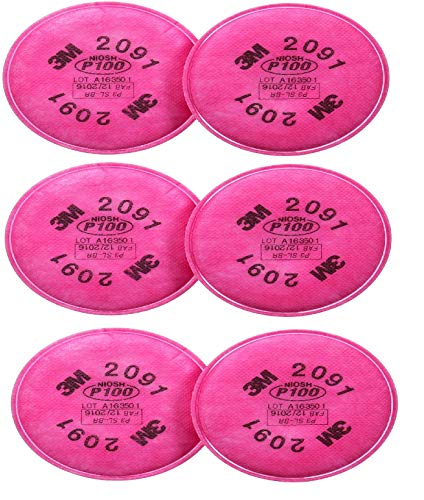 3M 2091 P100 Particulate Filter, 3 Pairs