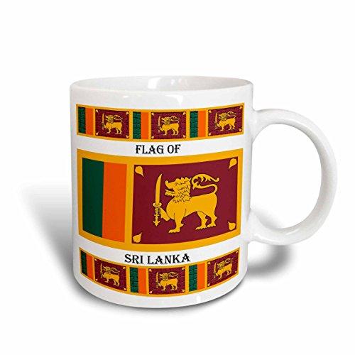 3dRose Flagge von Sri Lanka Tasse, 15Oz, Keramik, weiß, 11,43x 8,45x 12,7cm