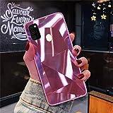 Kompatibel mit Samsung Galaxy M30S/Galaxy M21 Glitzer Hülle 3D Glänzend Bling Shiny Diamant Strass Muster Handyhülle Ultra Dünn Weiche TPU Silikon Schutzhülle Stoßfest Case Tasche,Rosa