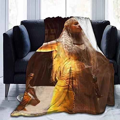 HSBZLH Steiff Decke Game of Thrones Daenerys Targaryen Decke Decken Soft Fuzzy Für Bett Sofa Reise Four Seasons Decke Large 80X60 In for Adults