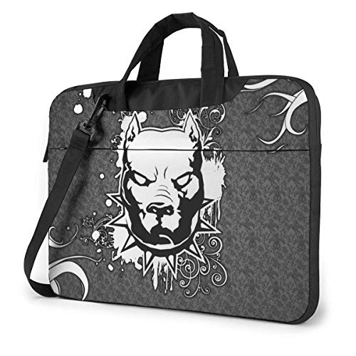 Laptop Sleeve Case, Pitbull Portable Laptop Bag Laptop Shoulder Messenger Bag Protective Bag 15.6 Inch