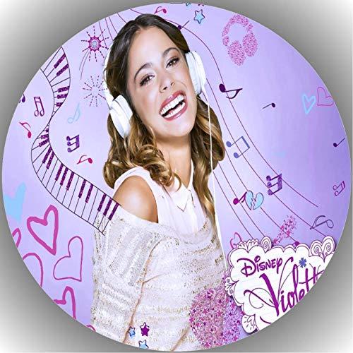 Premium Esspapier Tortenaufleger Geburtstag Violetta T2