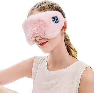 Aroma Season Wireless Heated Traveling Eye Mask with Sealed Battery, Relieve Dry Eyes, Eye Strain (Pink)