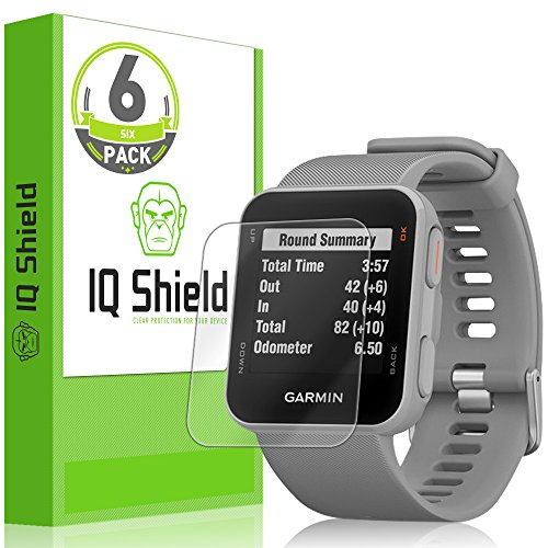 IQ Shield Screen Protector Compatible with Garmin Approach S10 (6-Pack) Anti-Bubble Clear Film