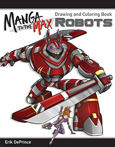 Robots Adult Coloring Book: Drawing and Coloring Book