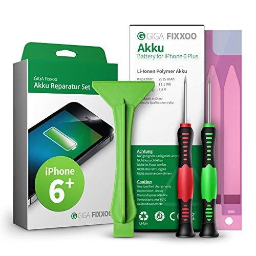 GIGA Fixxoo accu reparatieset compatibel met iPhone 6 Plus | Eenvoudige vervanging met handleiding en gereedschap in de set bij defecte batterij, snelle vervanging