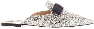 JIMMY CHOO Luxury Fashion Womens GALAXYFLATCGFCHAMPAGNE Silver Sandals | Fall Winter 19