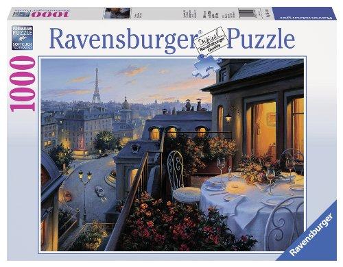 Ravensburger Balcone a Parigi 1000 Pezzi Jigsaw Puzzle per Adulti, Premium Puzzle con Tecnologia Softclick, età Consigliata 12+