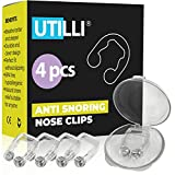 Anti Snoring Nose Clip Device - Silicone Magnetic Anti Snore Nose Clip - Kit 4 Anti Snoring Devices - Comfortable Night Snore Nasal Stopper - Best Sleep Anti Snore Clip for Men and Women