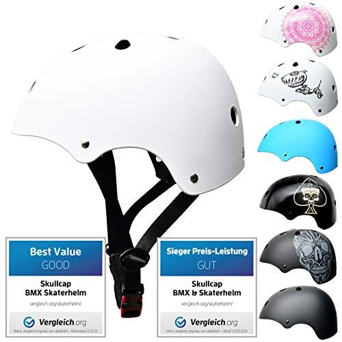 Skullcap BMX Helm Skaterhelm Fahrradhelm Herren | Damen | Jungs & Kinderhelm- Gr. L (58 – 61 cm), Crack NextLevel