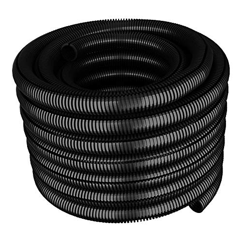 50m Wellrohr Ø22 PE Kabel Schutz Rohr Marderschutz geschlitzt 22/18 Isolierrohr Schutzrohr 0.84 €/m Kabelrohr 6137