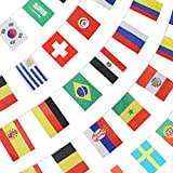 Image: Anley String Flag for 2018 World Cup, Group Match 32 Teams Countries Soccer Decoration Banners for Restaurants, Sport Bars, Game Night - 33 Feet 32 Flags